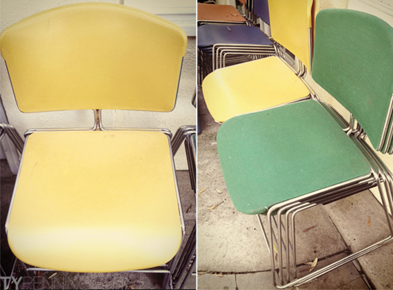 this old find vintage stacking chairs office for sale
