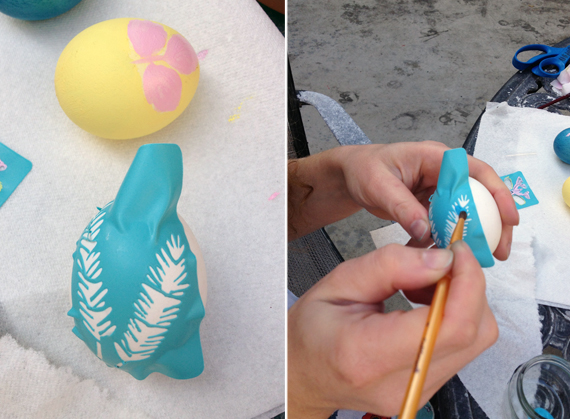 Creative DIY Easter Eggs with Stencils and Paint