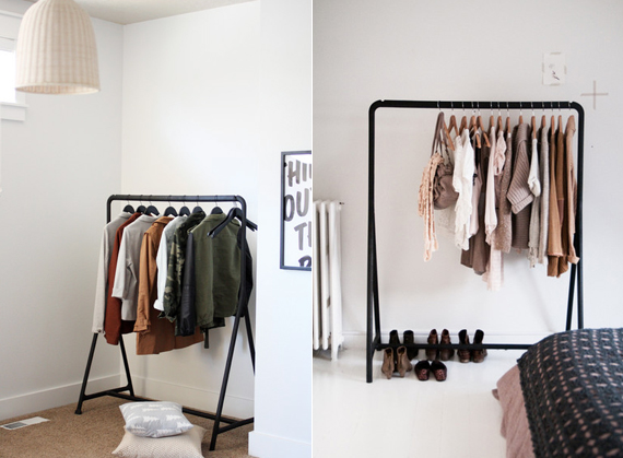 Small closet space fixes from ty pennington www - Room with no closet ...