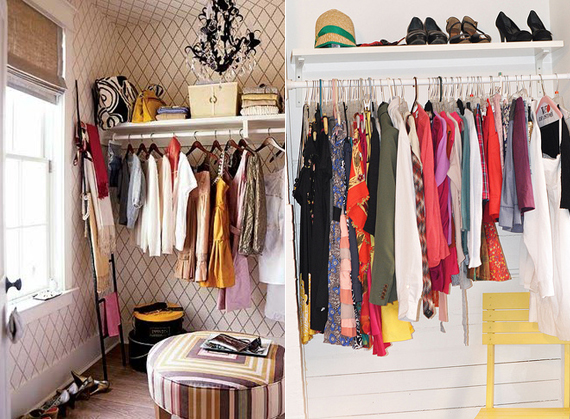 Design dilemma no closet no problem ty pennington No closet hanging solutions