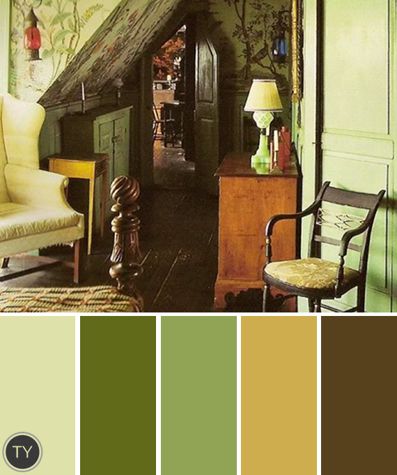 Design Vintage Color Palettes Ty Pennington
