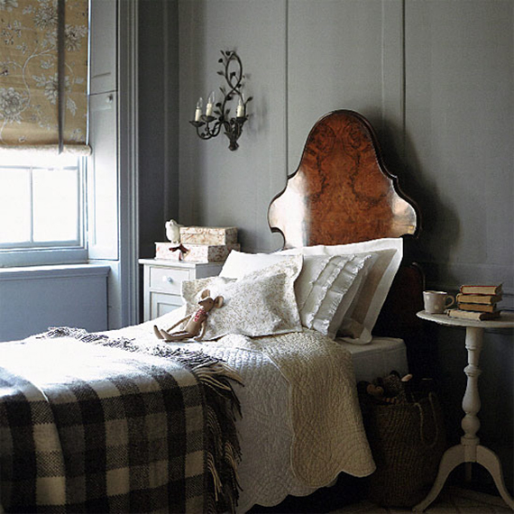 Add a plaid blanket to your bedroom for seasonal flair | Ty Pennington