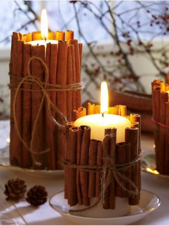 Repurpose your existing candles in your favorite winter scents by giving them a holiday make-over | Ty Pennington