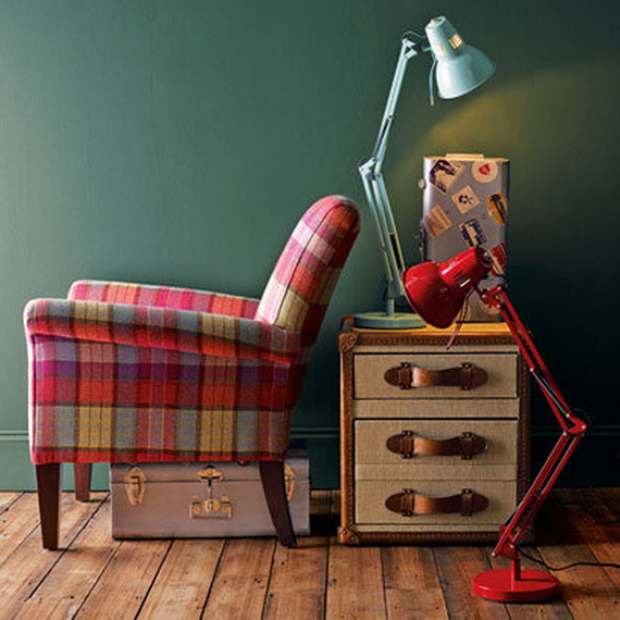 Plaid chair | Ty Pennington