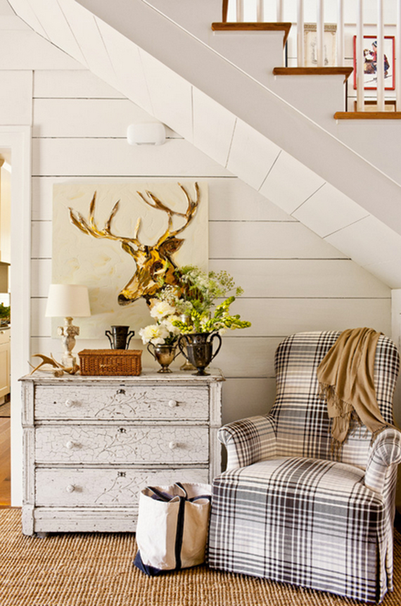 Plaid chair with vintage accents| Ty Pennington