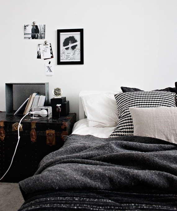 Black and white plaid pillow | Ty Pennington