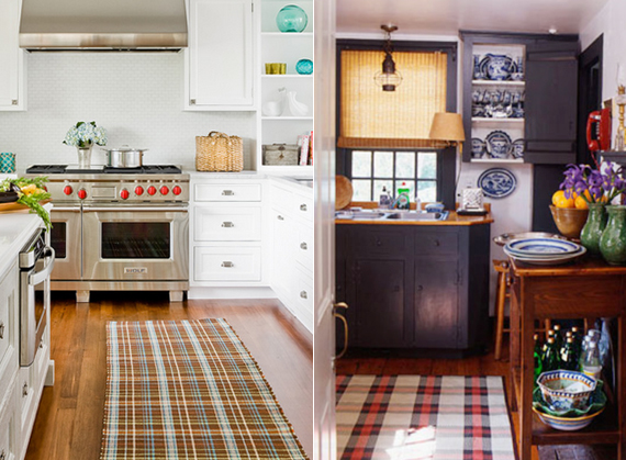 Plaid kitchen rugs | Ty Pennington