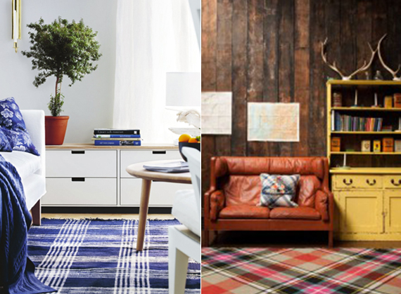 Plaid accent rugs add a seasonal touch to any room | Ty Pennington