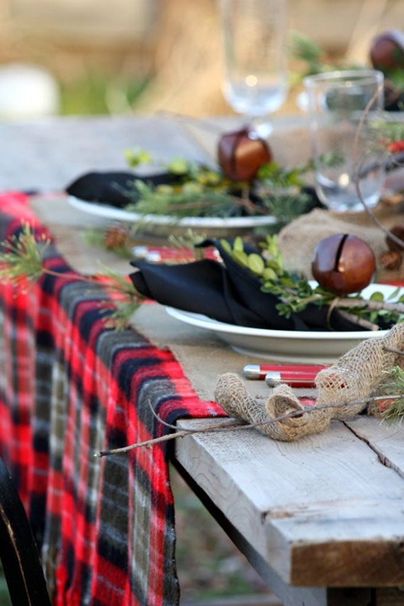 Seasonal plaid table runner | Ty Pennington
