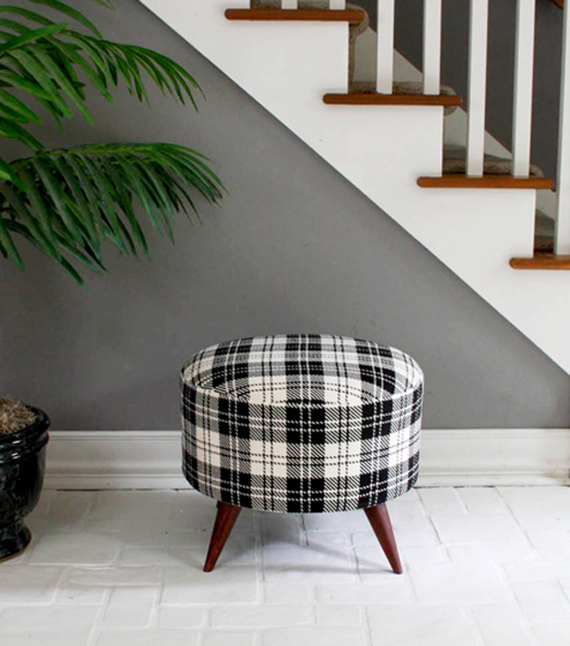 DIY plaid footstool | Ty Pennington