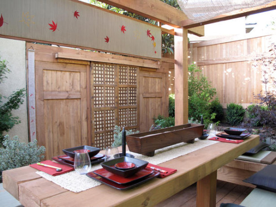 Asian-inspired outdoor dining | Ty Pennington