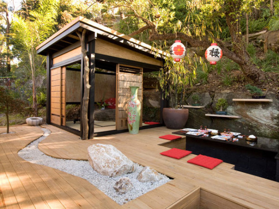 Asian-inspired outdoor patio | Ty Pennington