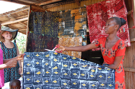 Handmade Ghanian fabrics | Worldly Design: Hand-Crafted with Love, from Ghana by Kim Lewis Designs