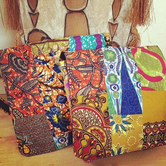 Ghanaian fabric bag | Worldly Design: Hand-Crafted with Love, from Ghana by Kim Lewis Designs