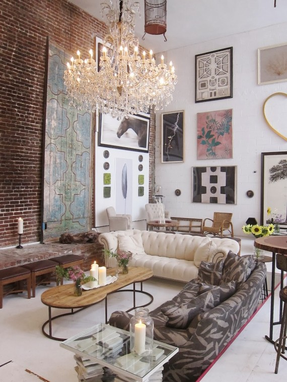 Hang big artwork to balance extra space with vaulted ceilings | Ty Pennington