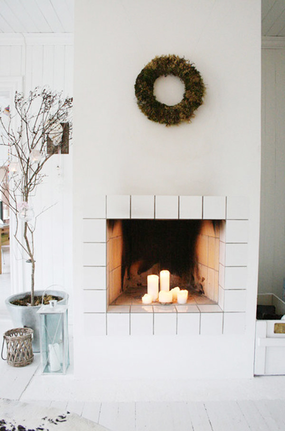 Replace logs with candles to set the mood | Ty Pennington