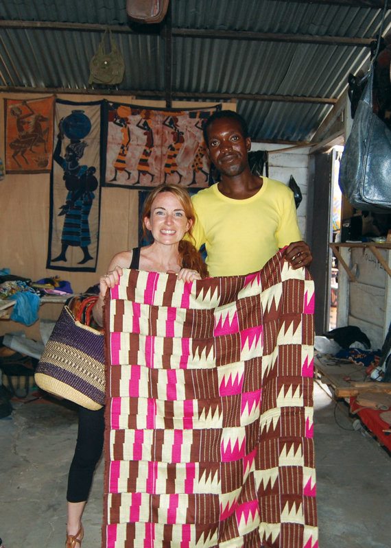 Kenti fabric in Ghana | Worldly Design: Hand-Crafted with Love, from Ghana by Kim Lewis Designs