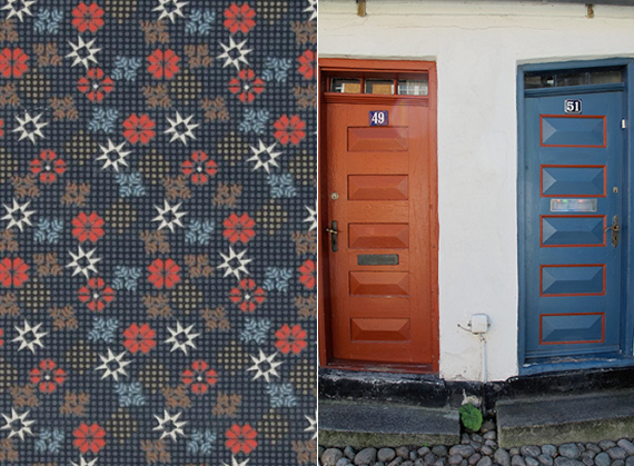 Contrasting colors and door design | Ty Pennington Impressions fabrics for Spring 2014