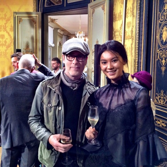 Champagne toast w/ Wen Xia Yu, Miss China 2012 Worldly Design: Adventures in Paris by Patrick Delanty