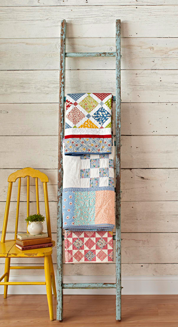 Repurpose an old ladder to display blankets, quilts and textiles | Ty Pennington