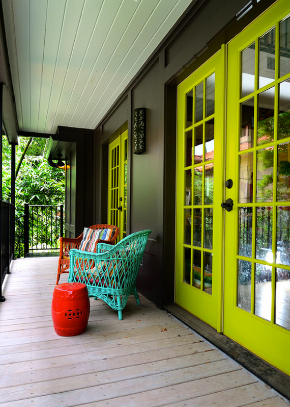 Bright doors | Go Green: St. Patty's Day Design