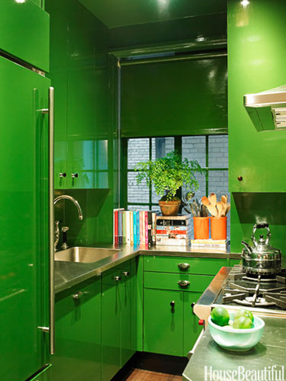 Lacquered kitchen | Go Green: St. Patty's Day Design