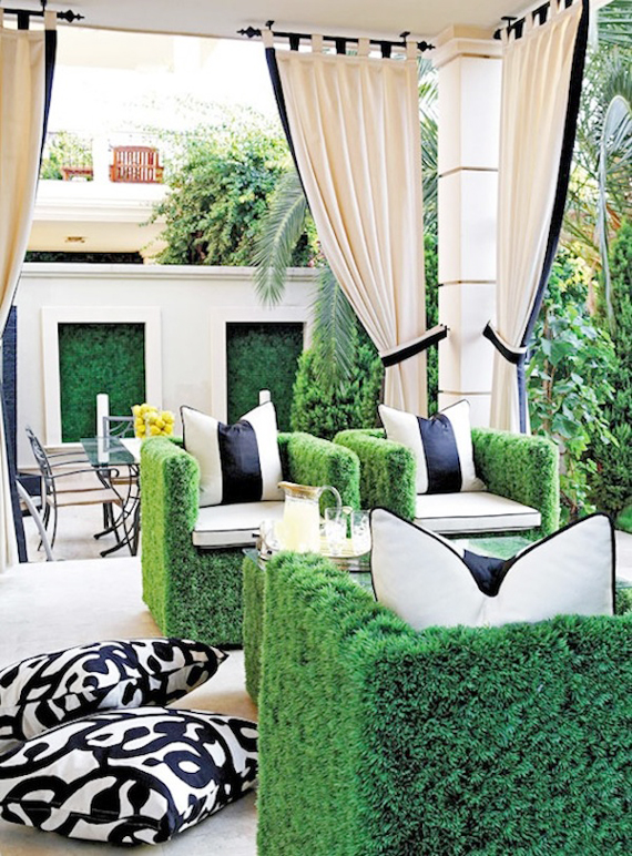 Outdoor furniture | Go Green: St. Patty's Day Design