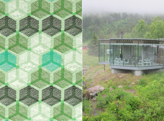 Natural architecture + honeycomb patterns | Ty Pennington Impressions fabrics for Spring 2014