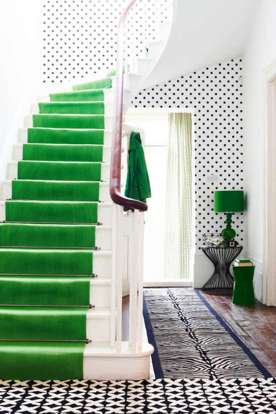 Green Staircase | Go Green: St. Patty's Day Design