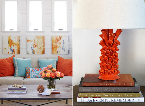 Bold Coral Accents | Last Look: Coastal Interiors