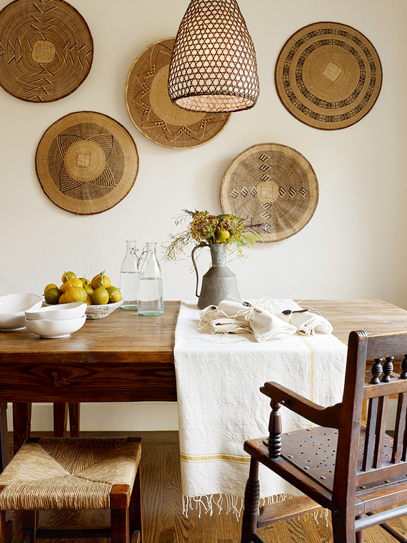 Woven wall decor inspired by Africa