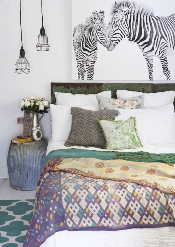 Zebra accents inspired by Africa | Worldly Design by Ty Pennington