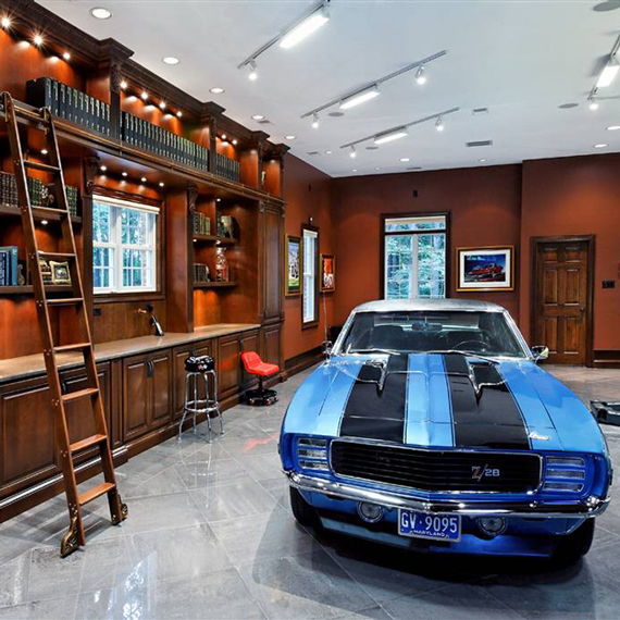 Custom Garage Works | The Modern Day Man Cave + Masculine Decor by Ty Pennington