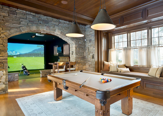 For the Golfer | The Modern Day Man Cave + Masculine Decor by Ty Pennington