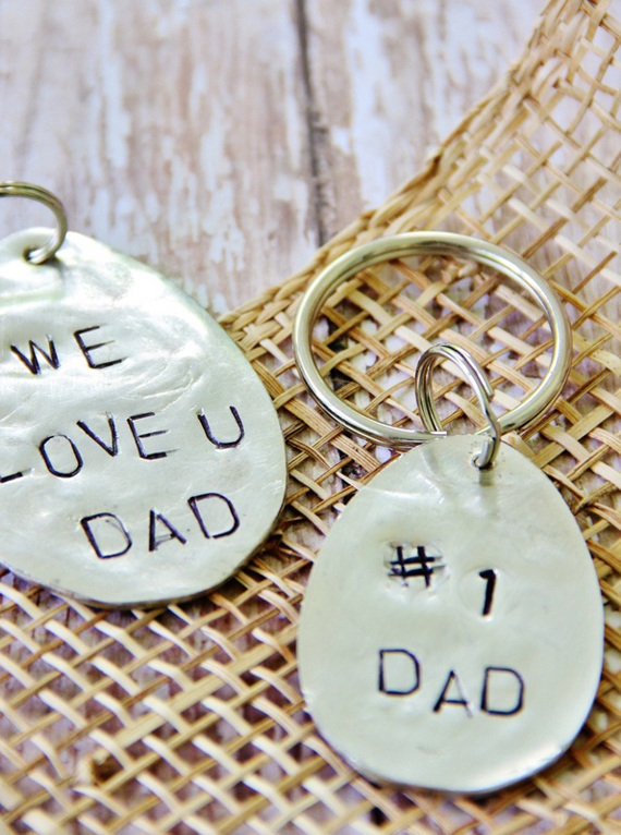 DIY Stamped Keychain | 10 DIY Gift Ideas for Father's Day by Ty Pennington