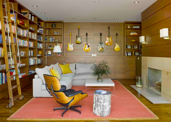 Music Lovers | The Modern Day Man Cave + Masculine Decor by Ty Pennington