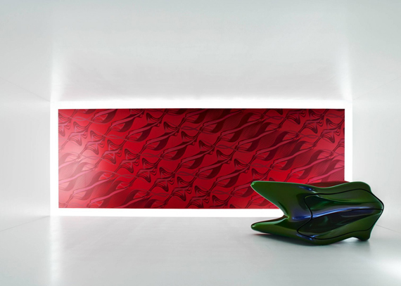 Zaha Hadid Art Borders Wallpaper