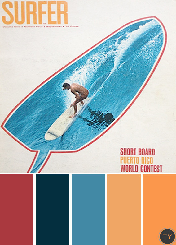 Inspired by: Vintage Surf Magazines by Ty Pennington