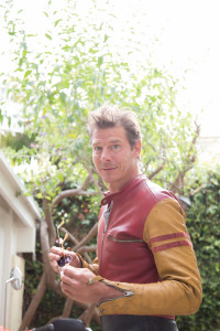 Ty Pennington's #vintage leather jumpsuit from Amsterdam #throwbackthursday #fashion #travel