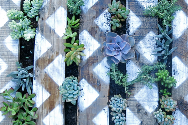 DIY Painted Palette Garden