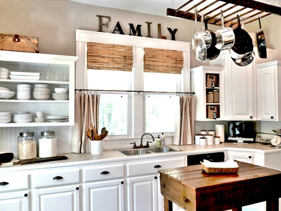Repurpose An Old Ladder To Hang Kitchen Pots And Pans Ty Pennington