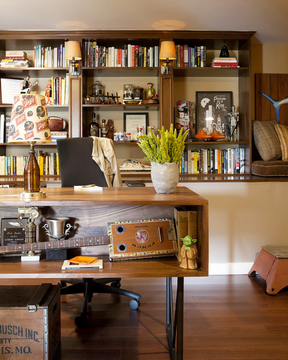 office man cave. Manly Office | The Modern Day Man Cave + Masculine Decor By Ty Pennington Office Man Cave